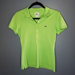 Lacoste Green Polo Size 38
